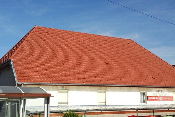 Réfection de la toiture d'un Hotel